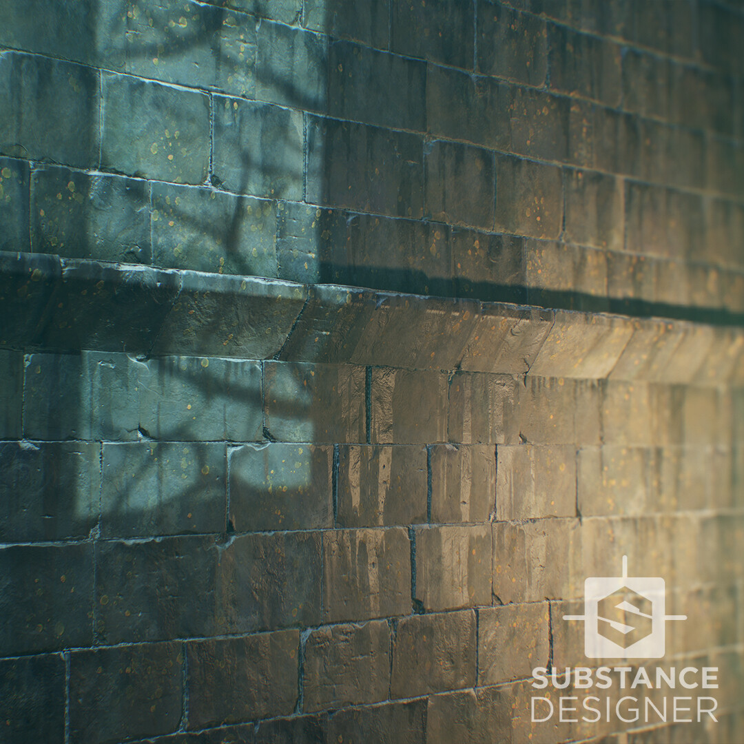 Dishonored 2 style wall/ Fan art / Substance Designer