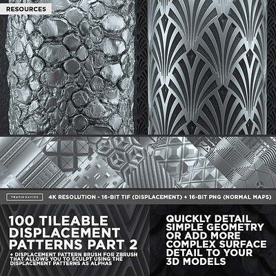 Travis davids 100 tileable displacement patterns part 2