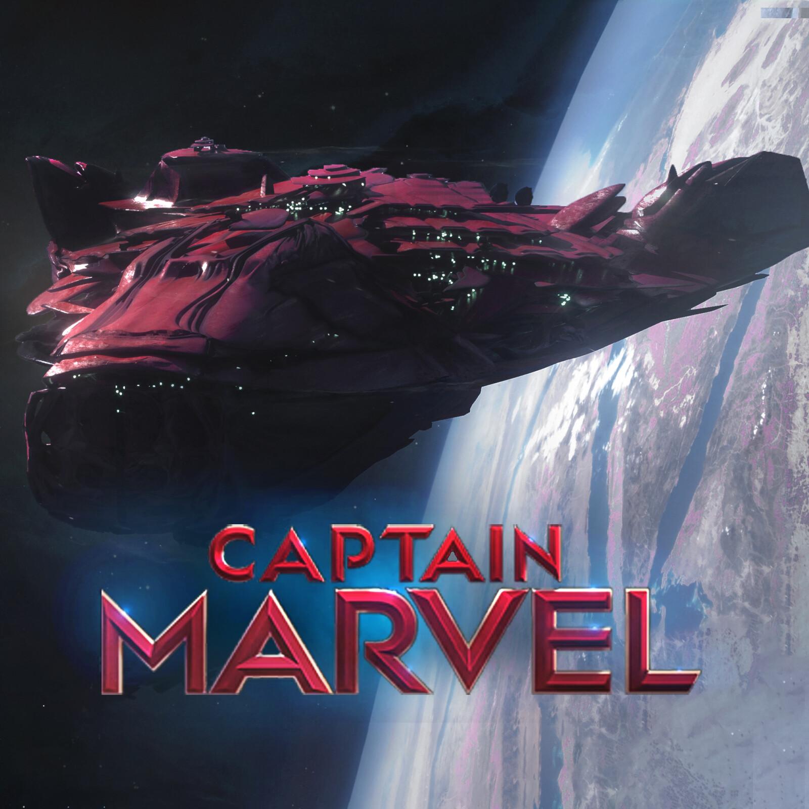 Captain Marvel Skrull Pod and Mothership