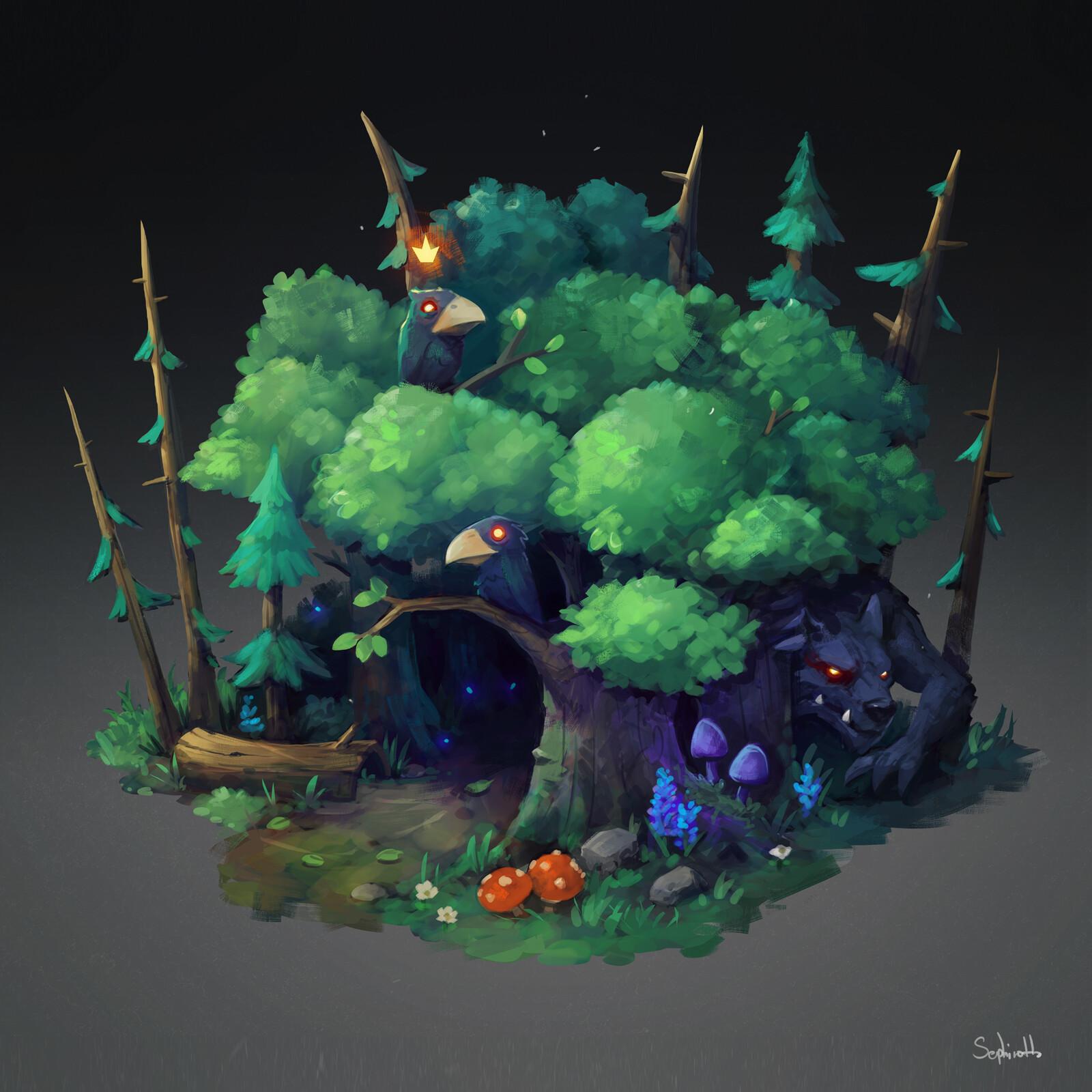 Isometric Dark Forest