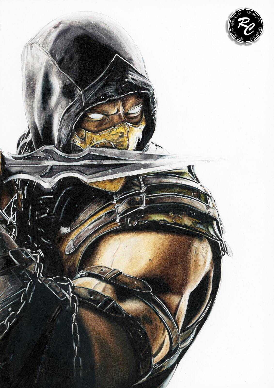 Artstation Scorpion Mkx Drawing Rosario Carmina
