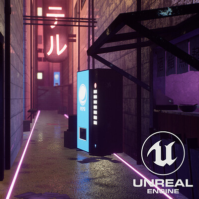 Neon Alleyway (Unreal Engine)