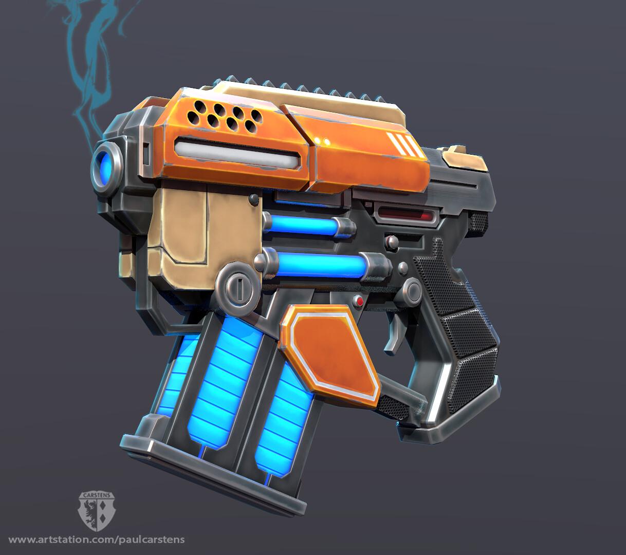 Sci-fi Blaster Pistol