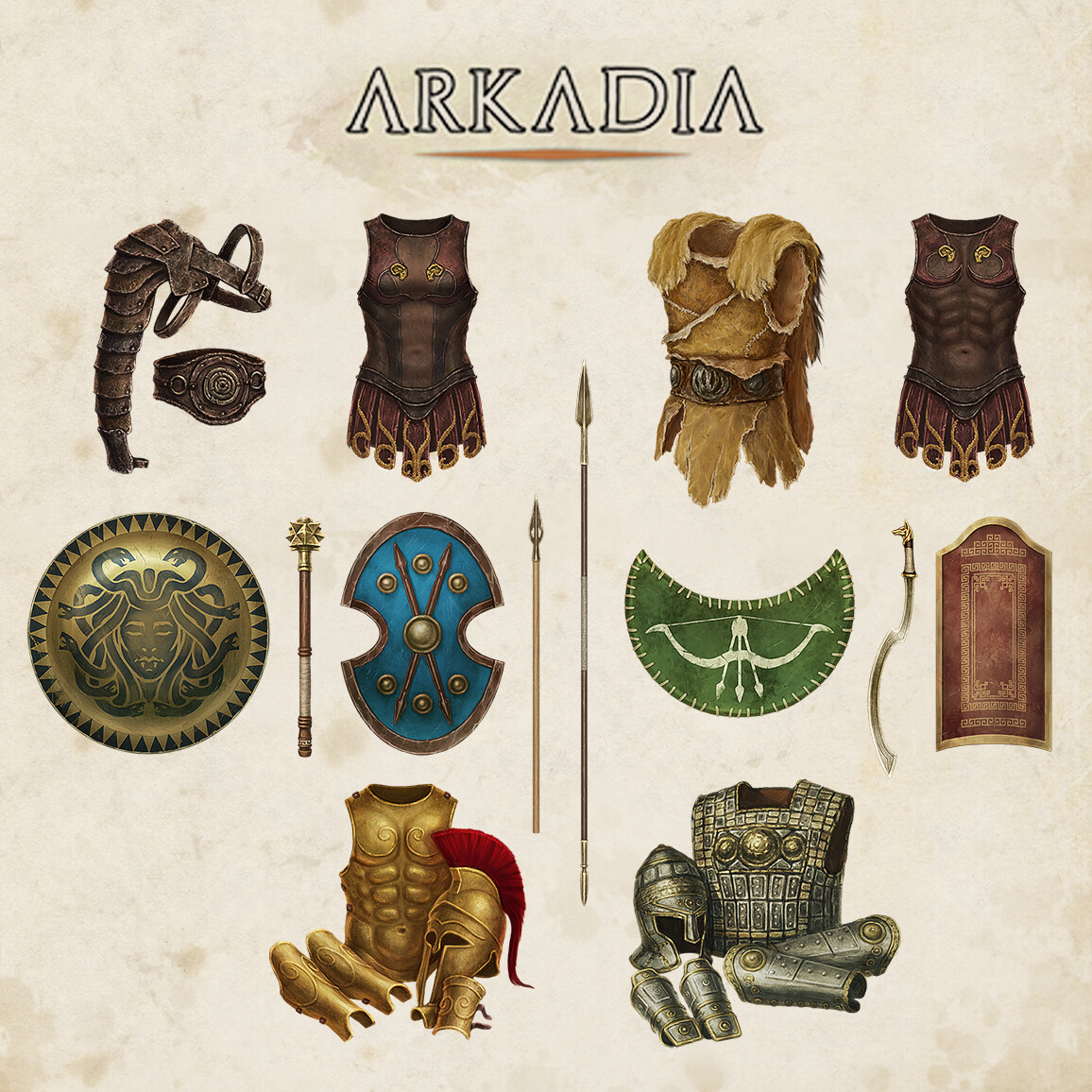 [ARKADIA] - Armors, Shields & Weapons