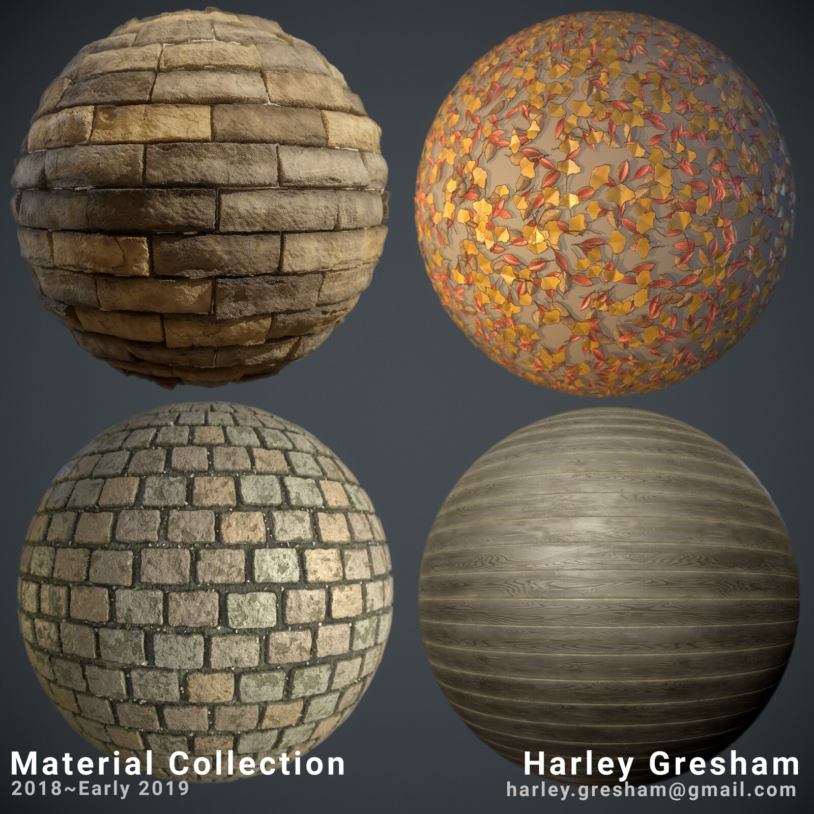 Substance Designer Material Collection 2018~Early 2019
