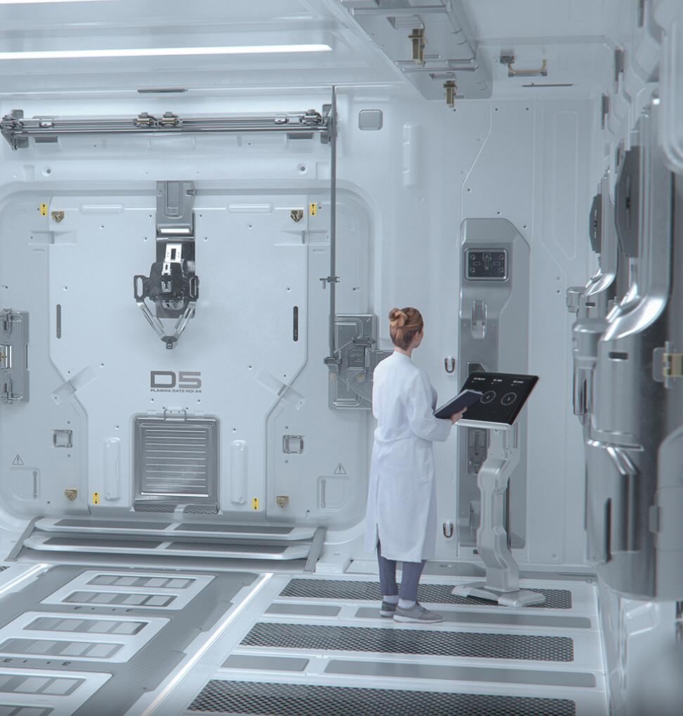 Laboratory Hallway