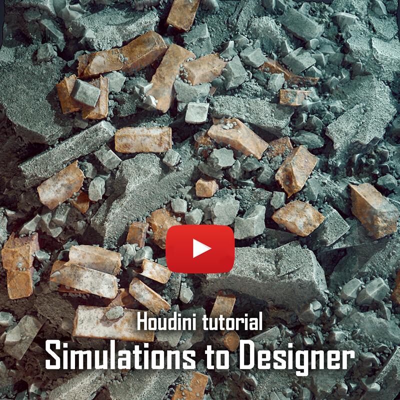 Houdini Simulation to Substance Designer