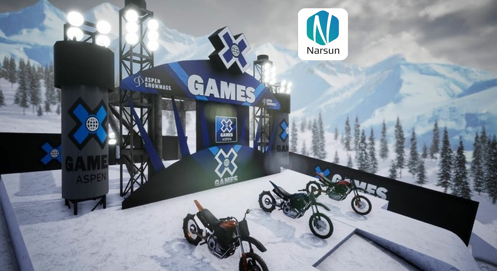 Environment for Xgames Big air race