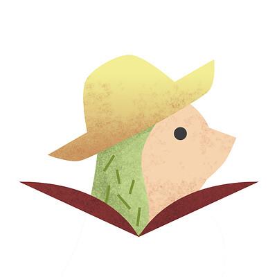 Caroline rozali hedgehog logo icon 2 2 3afdesign