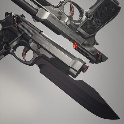 Wanoco 4d gun pistol jack s gun knife 9