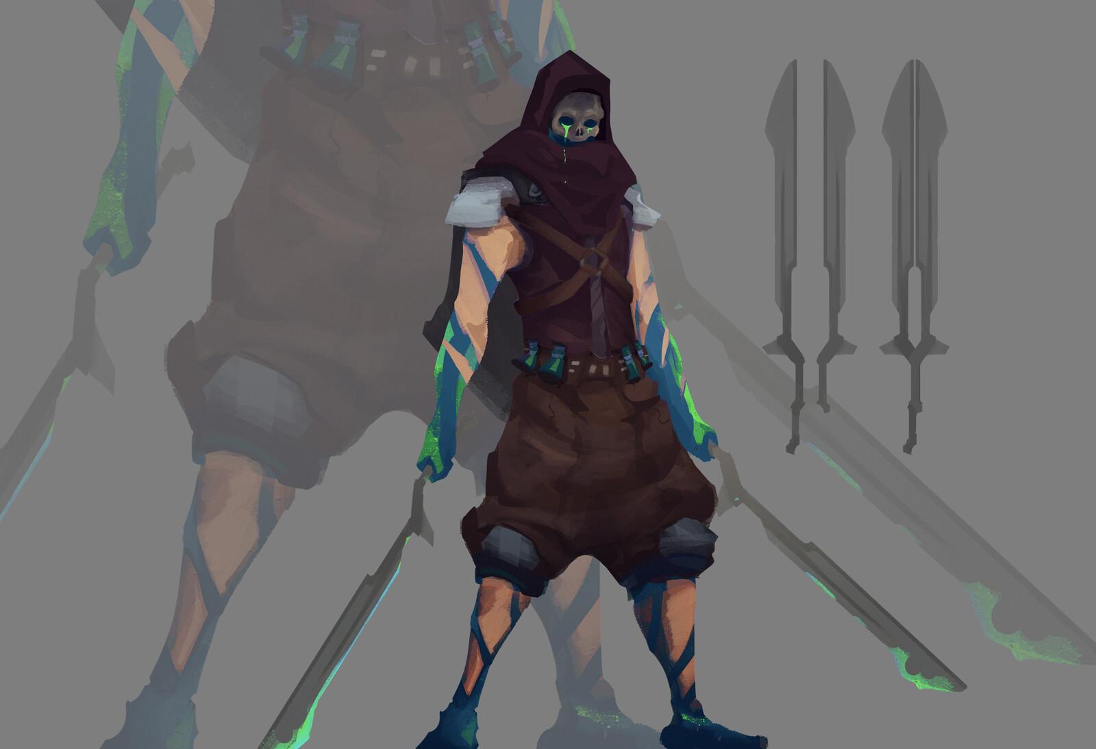 Venlard | The Haunting Blade | Battlerite Champion Fan Concept