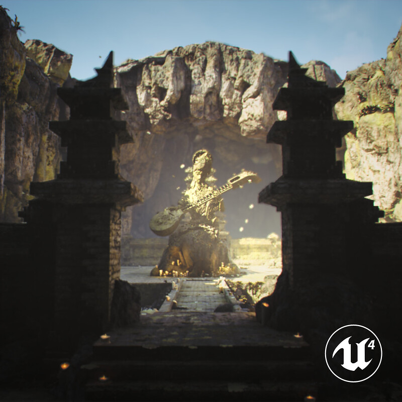 Saraswati Temple | Real-time Environment Art