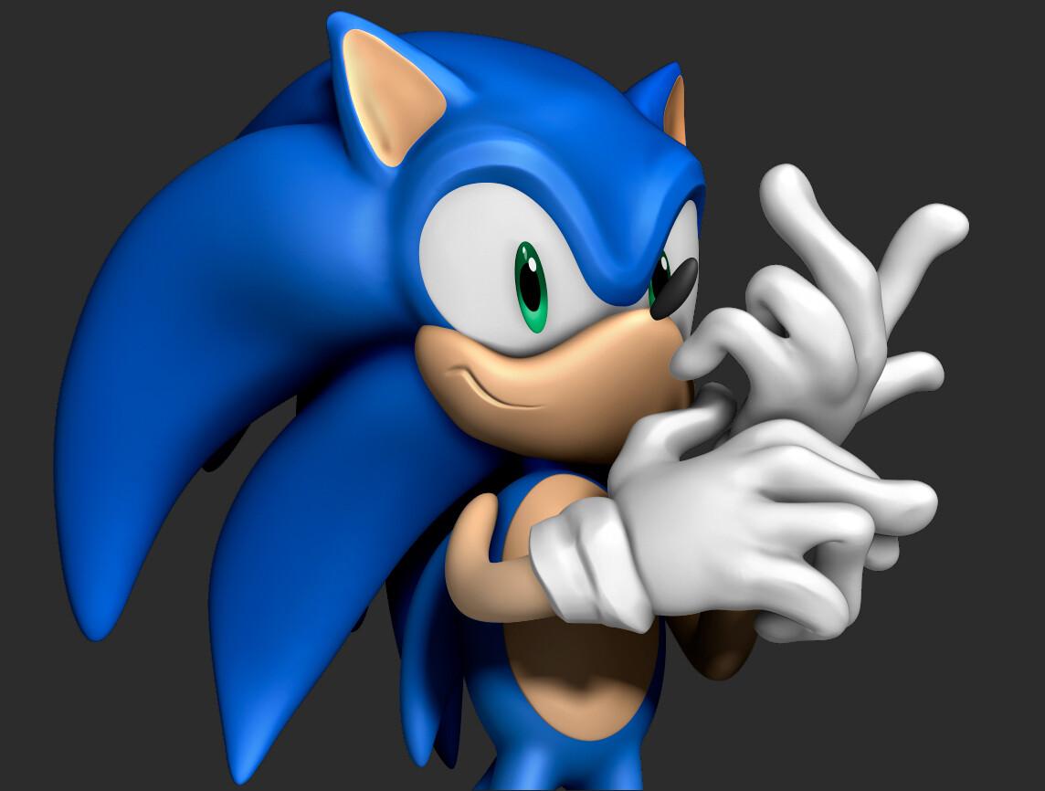 Artstation Sonic The Hedgehog Sculpt Jose Martin Lorente Bernal
