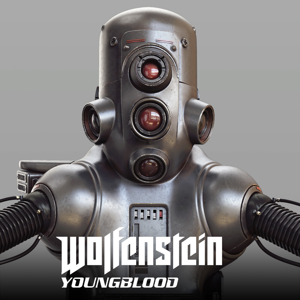 Wolfenstein: Youngblood - Casino Robot HighPoly
