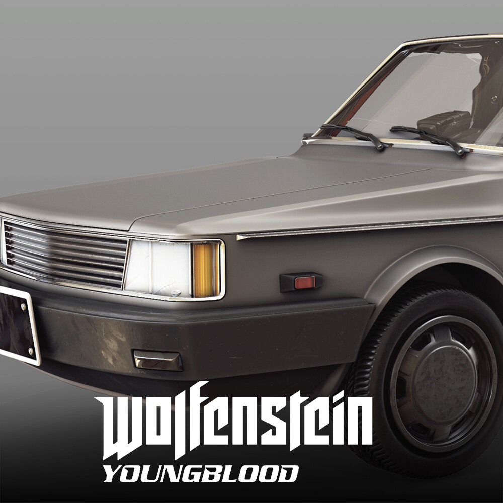 Wolfenstein: Youngblood - Civilian Car 2 HighPoly