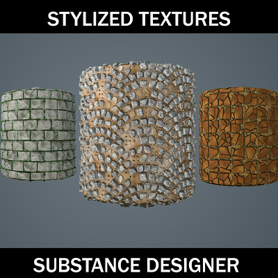 Substance Designer Stylized Textures