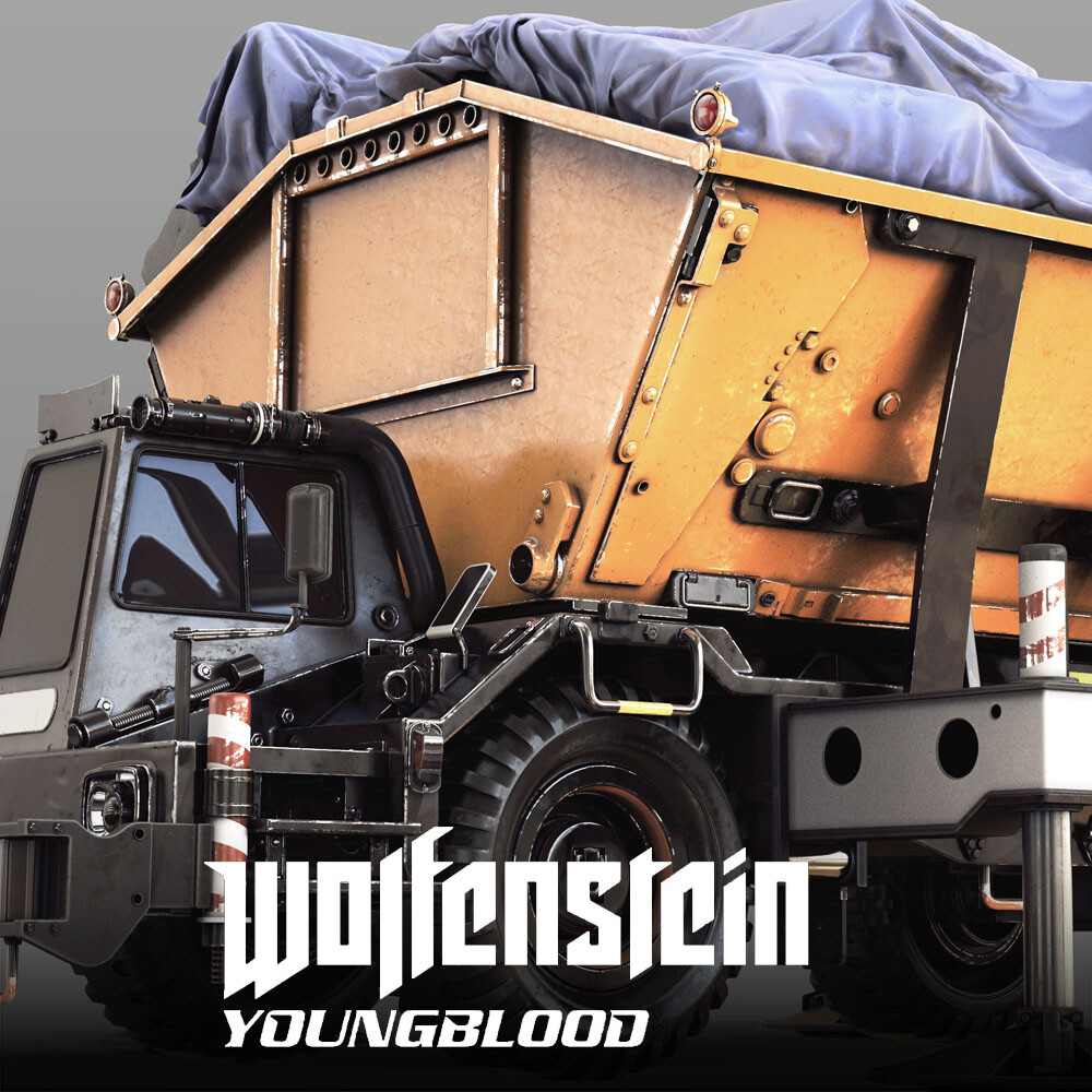 Wolfenstein: Youngblood - Container Unit Highpoly