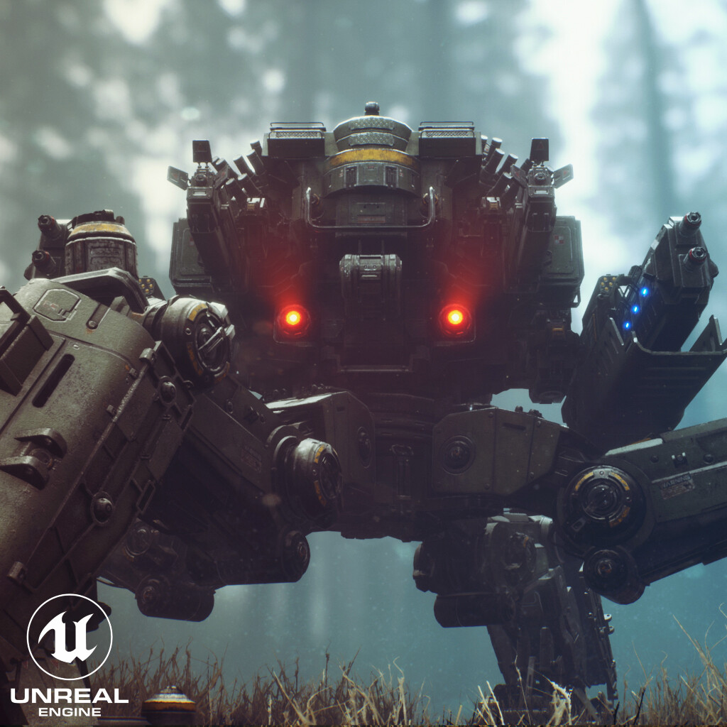 Goliath MK III Tank Mech Walker - game asset