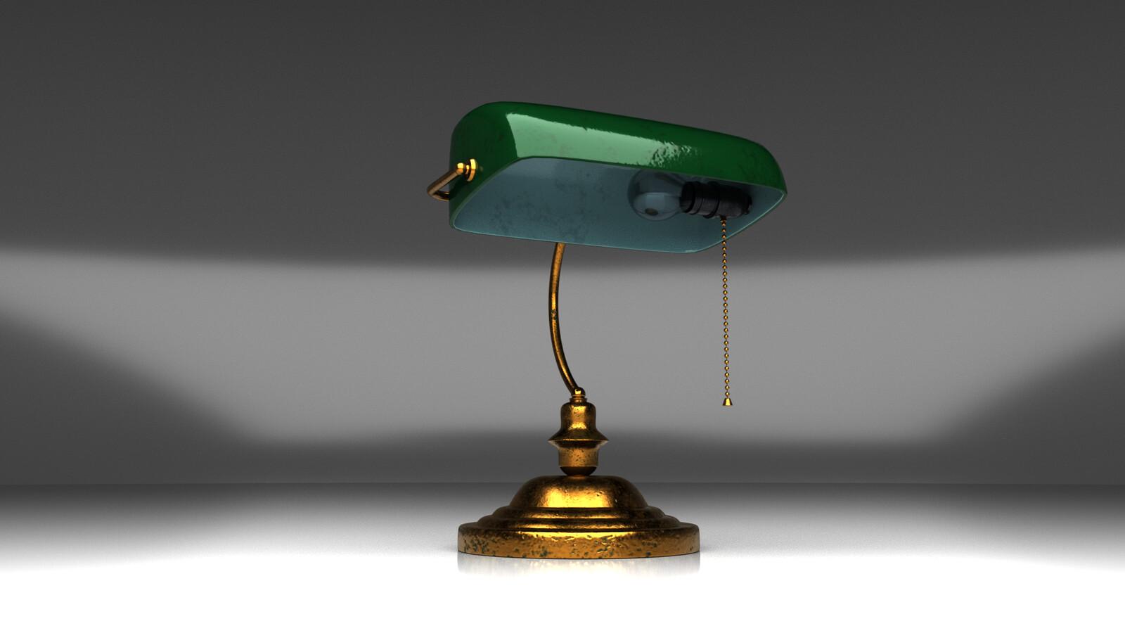 1950's Bank Lamp