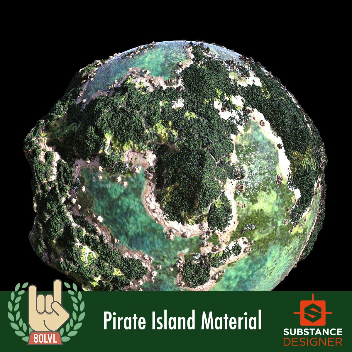 Pirate Island Material - 100% Substance Designer