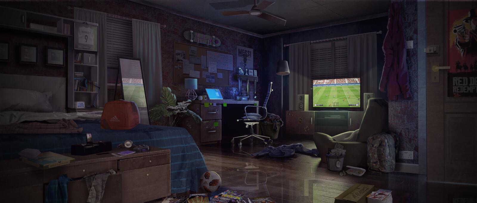 Teenager's Bedroom Concept