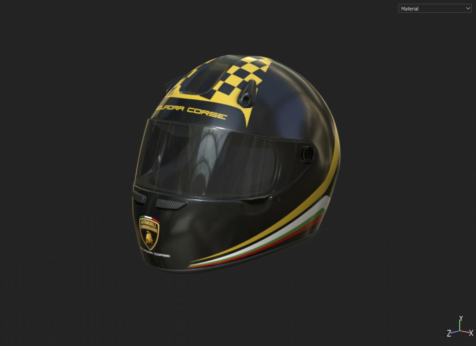 Lamborghini Squadra Corse Helmet