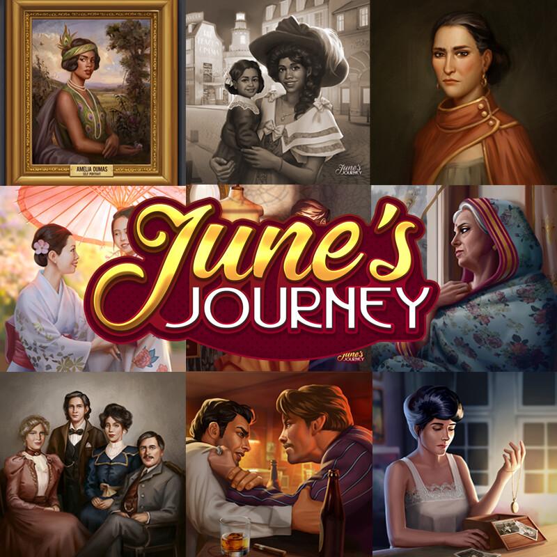 June's Journey character illustration