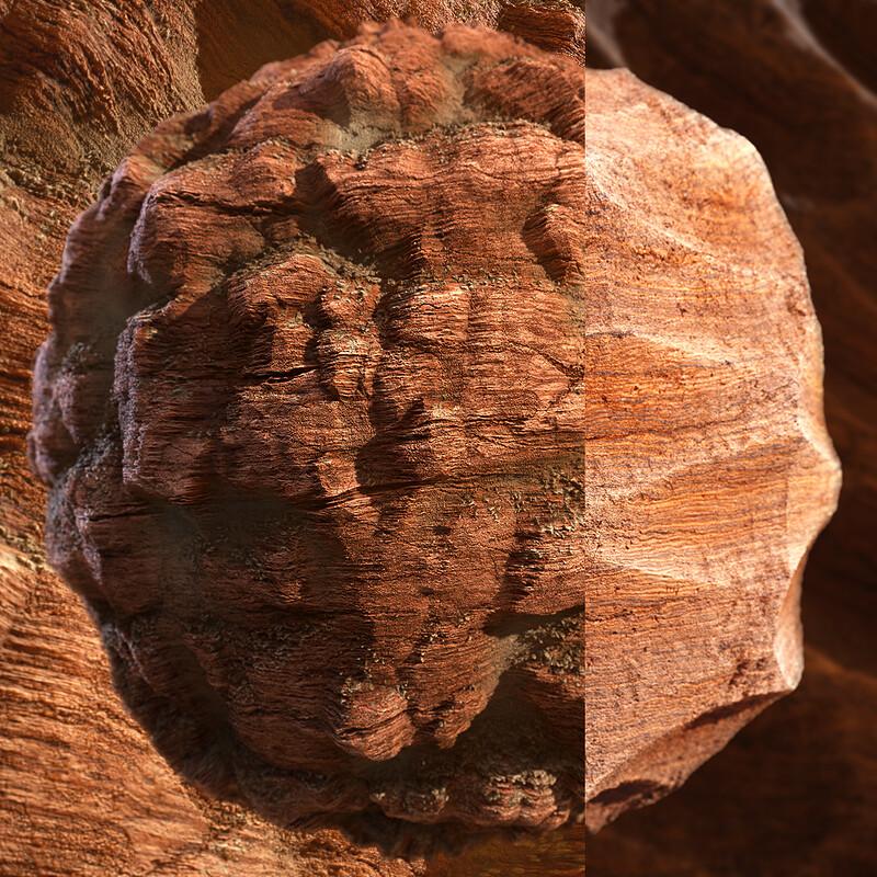 Eroded Sandstone Cliff Substances