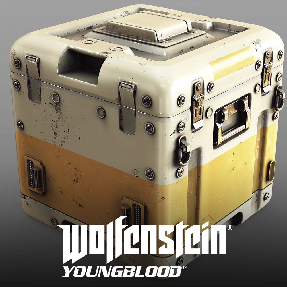 Wolfenstein: Youngblood - Crates HighPoly