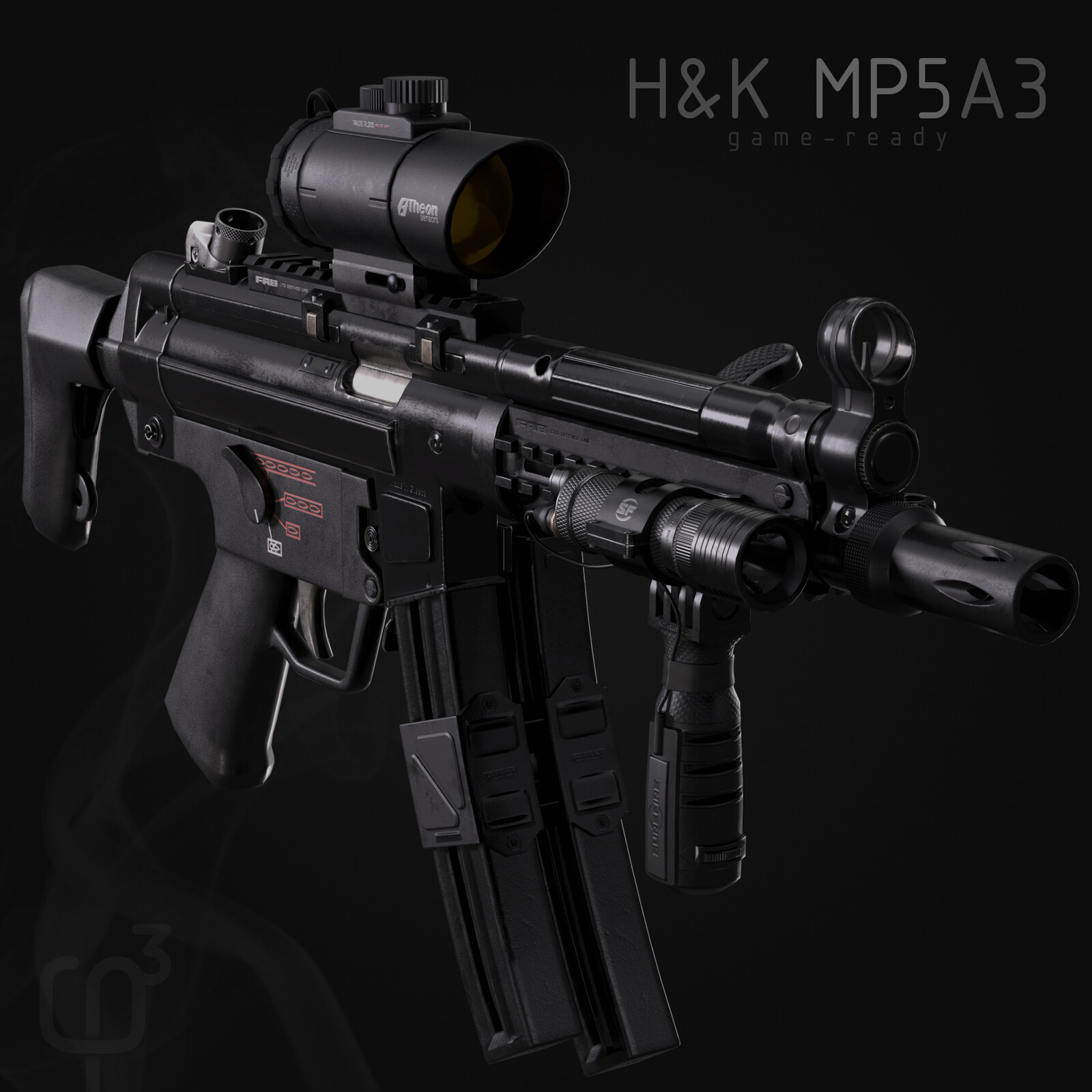 H&K MP5 (A3) game model