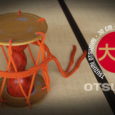 Michael klee otsuzumi japan drum by michael klee