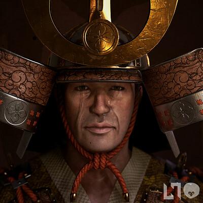 Nikolaos kaltsogiannis samurai bust thubnail 01