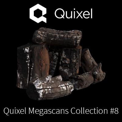 Quixel Megascans burned Firewood