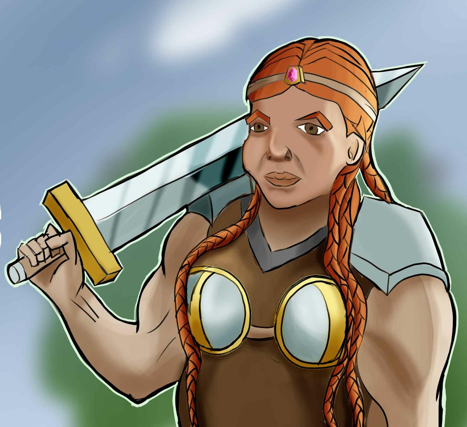 Une naine Guerrière - A dwarf warrior