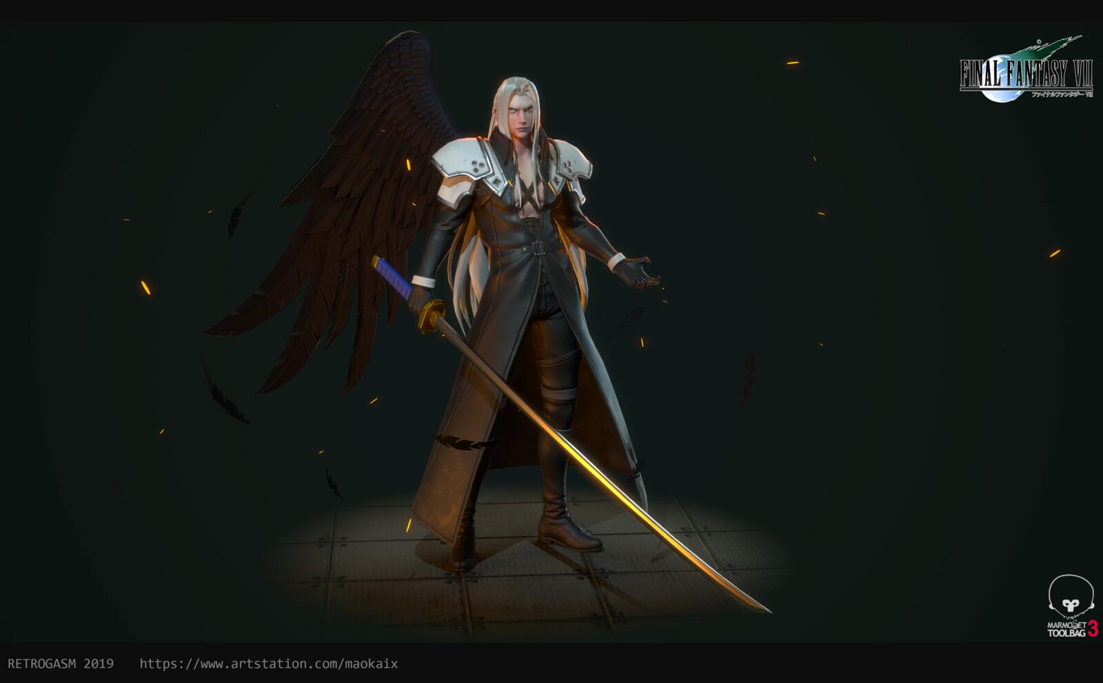 Artstation Sephiroth Fan Art Final Fantasy 7 Retrogasm