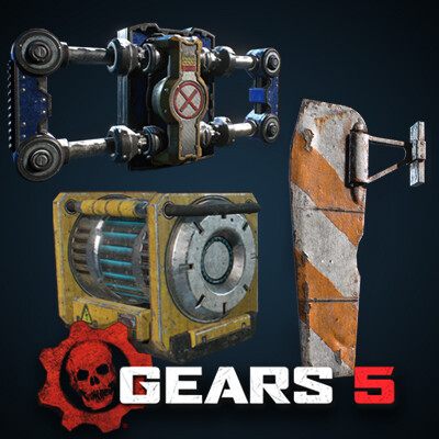 Gears 5 - Misc Hard Surface Props