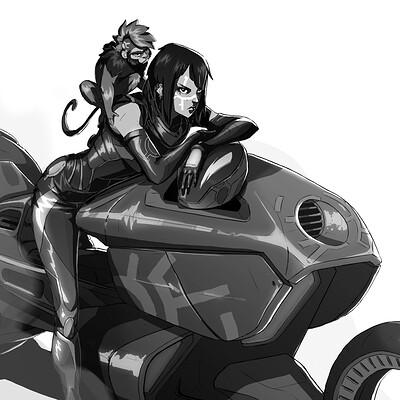 Faustine dumontier dumontier faustine biker16