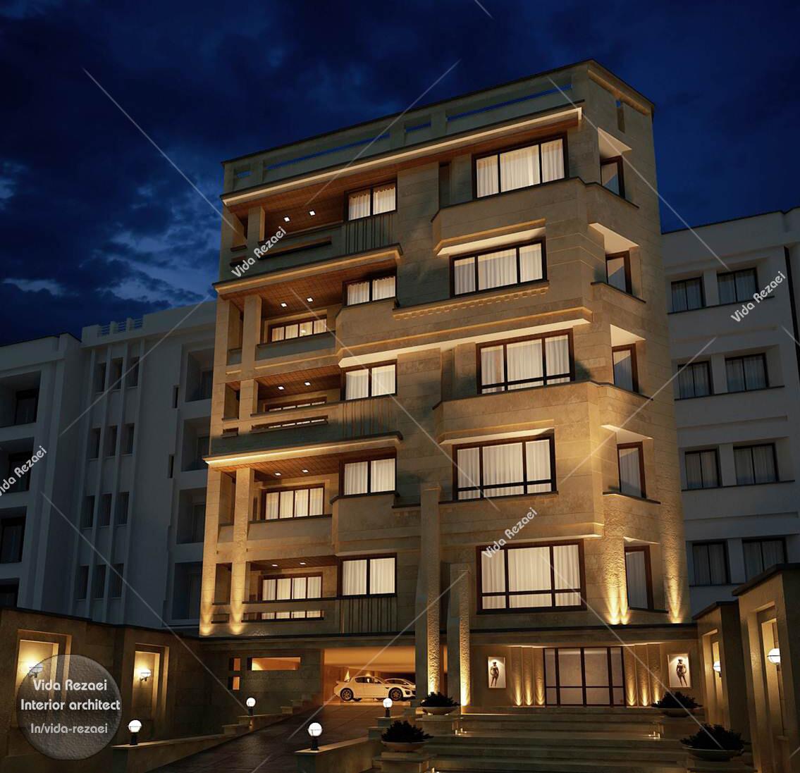 Artstation Facade Of Residential Buildings Vida Rezaei