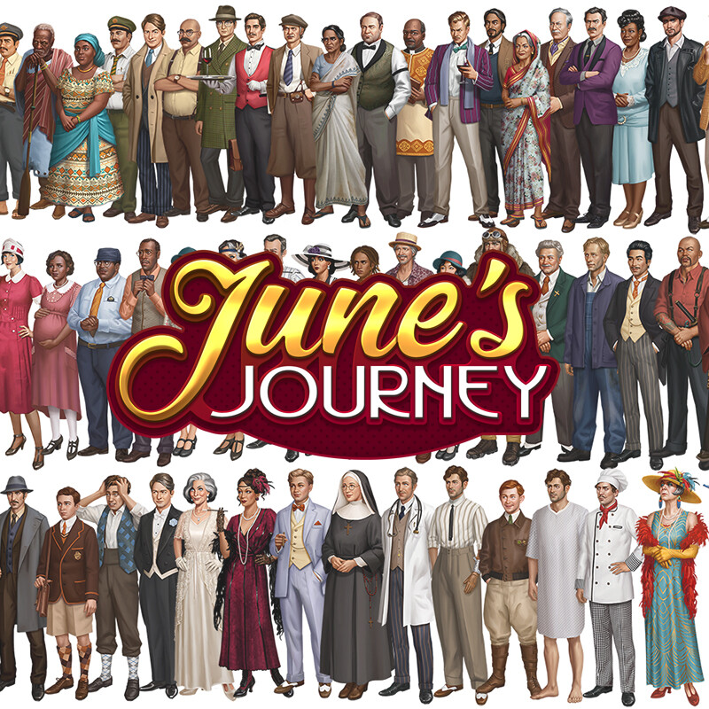 June's Journey Characters