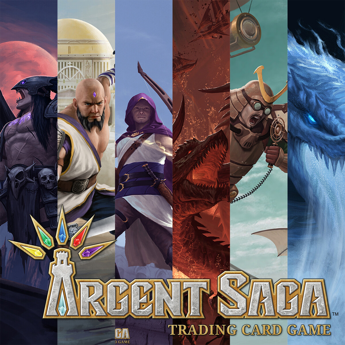 Illustrations for Argent Saga TCG - Betrayal Set