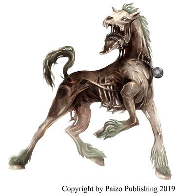 Teresa guido zombie rot horse by teresaguido