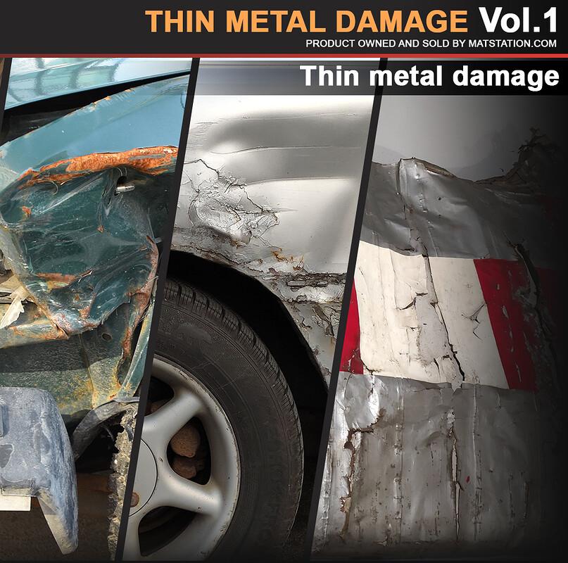Photo Pack - Thin Metal Damage - Vol.1
