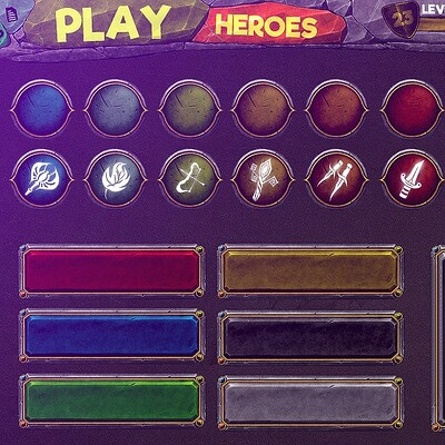 GUI - Hand Painted Game Ui - game user interface