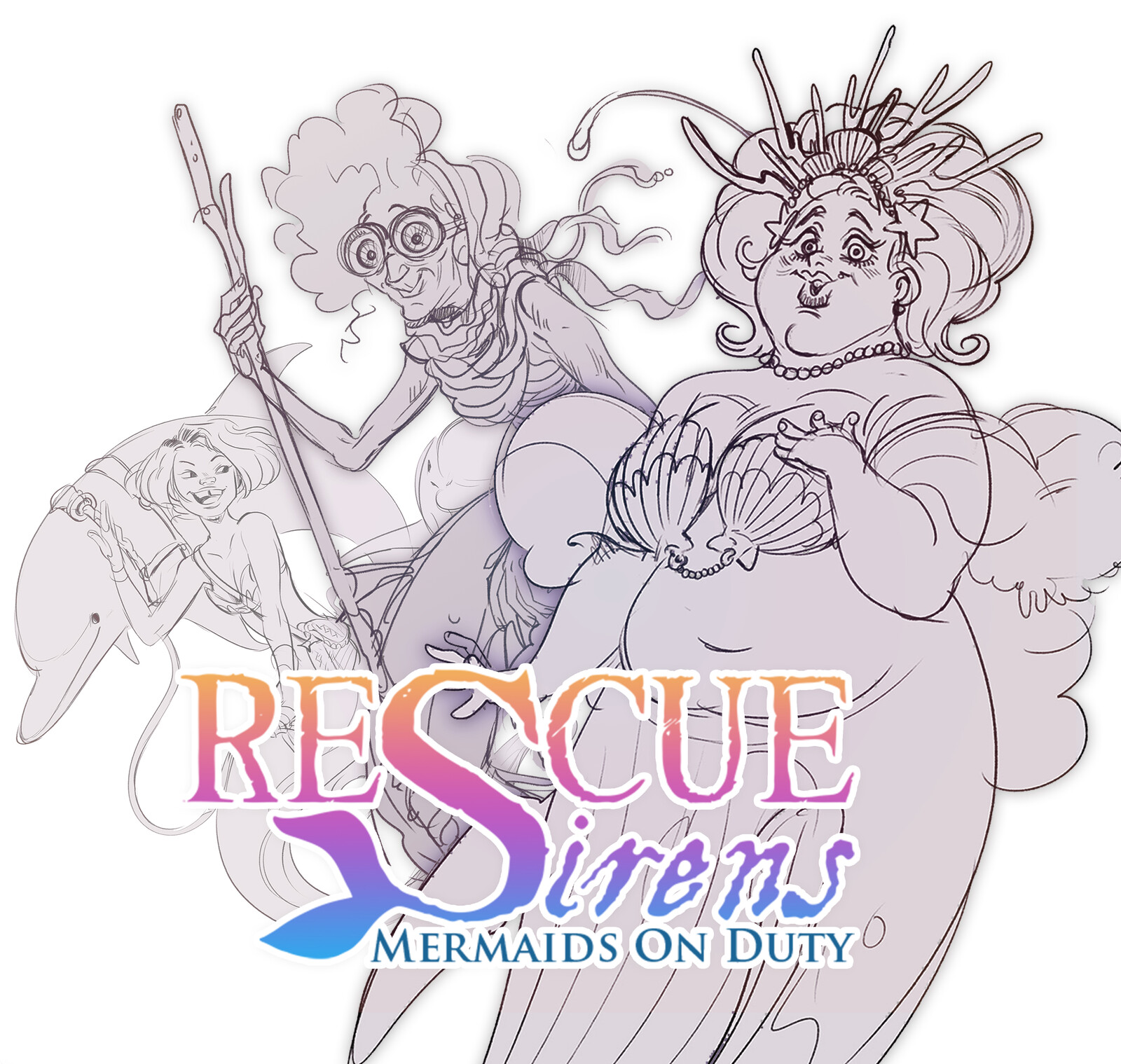 Rescue Sirens - Guild Character Designs
