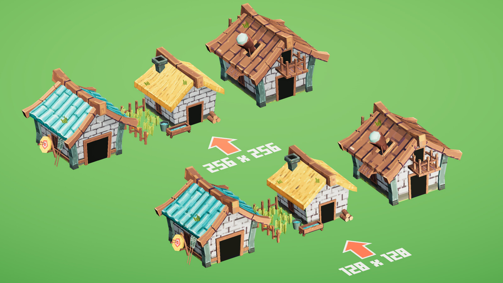 Mobile RTS - Rustic buildings