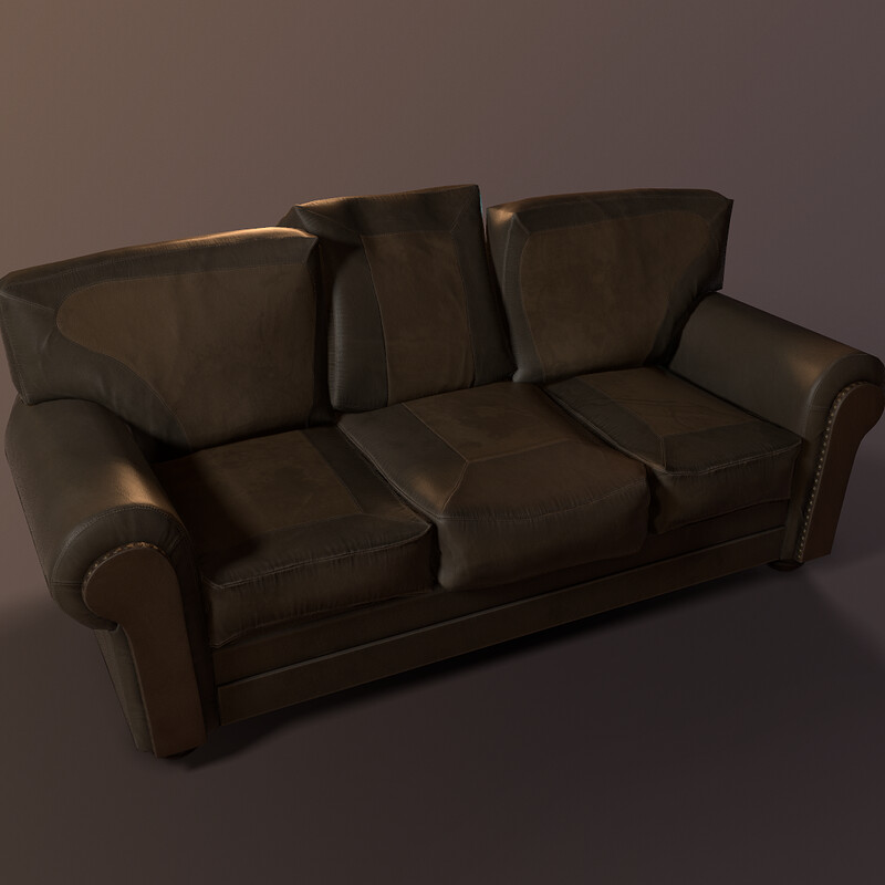 Old Couch (Part of Horror Living Room Asset Pack - WIP)