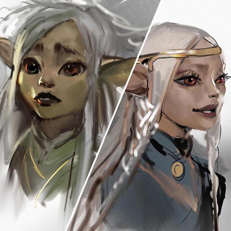 Dark Crystal sketches