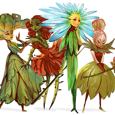 Sandra duchiewicz floral fairies thumb
