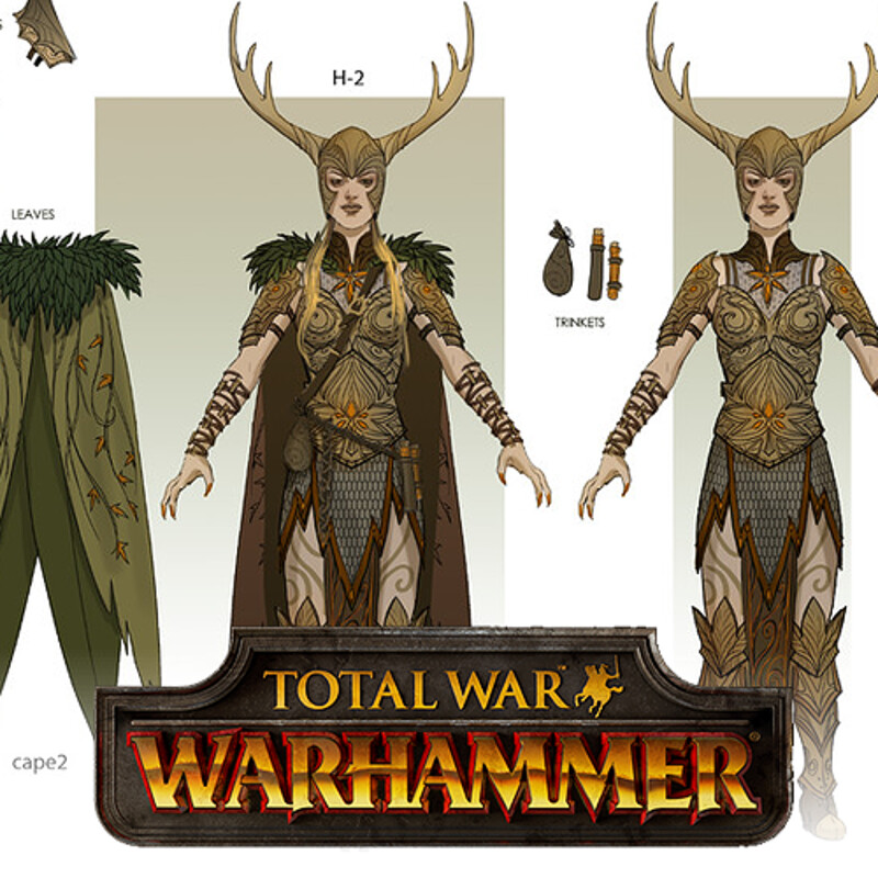 Total War: Warhammer Concept Art - Female Gladelords