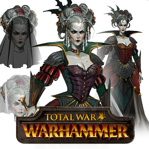 Total War: Warhammer Concept Art - Vampire Lady
